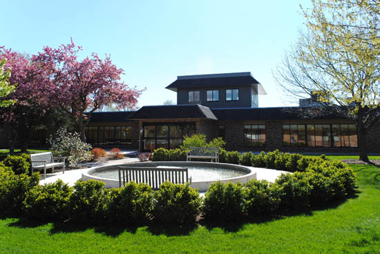 Click to enlarge image aaa-Courtyard Healthcare exterior with fountain.jpg